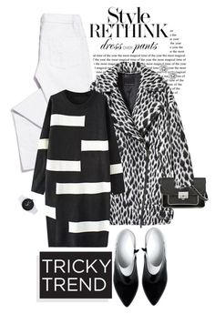 """""""Tricky Trend: Dress and Pants"""" by shortyluv718 ❤ liked on Polyvore featuring Tory Burch, Maison Margiela, Banana Republic, Marc by Marc Jacobs, Michael Kors, Nixon, women's clothing, women's fashion, women and female"""