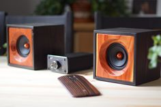 Reclaimed Wood Computer Speakers Set of Two by SalvageAudio
