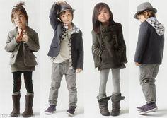 Moda infantil de inverno