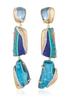 Petra One of a Kind Drop Earrings by Kara Ross for Preorder on Moda Operandi