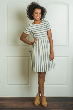 Annika Stripe Dress