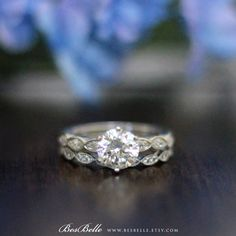 1.55 ct.tw Wedding Set Rings-Art Deco Ring-Brilliant & Marquise Cut Diamond Simulants-Bridal Set Ring-Solid Sterling Silver [61434-2] by Besbelle on Etsy https://www.etsy.com/au/listing/279382322/155-cttw-wedding-set-rings-art-deco-ring