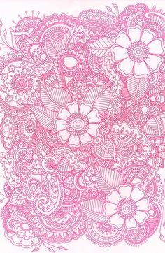 Pink and white girly floral iPod or iPhone wallpaper