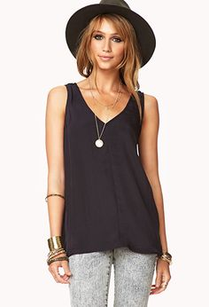 Caged Back Top | FOREVER 21 - 2059203286