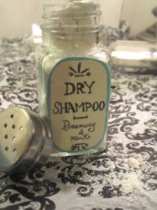 DIY dry shampoo. I tried this tonight and I love it, it smells really good too.
