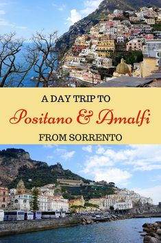 Tips for doing a Day Trip to Positano and Amalfi from Sorrento, Italy with Kids. See what the Amalfi Coast has to offer. #italywithkids #amalficoast