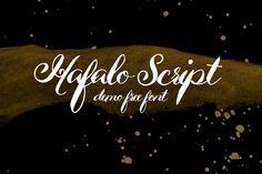 DLOLLEYS HELP: Hafalo Script Demo Free Font