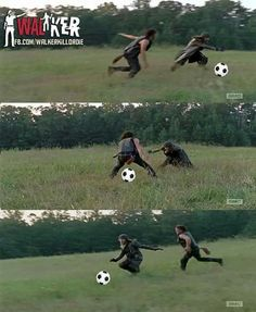 When Daryl and Jesus played soccer When Daryl and Jesus played soccer Related posts:TOP 15 Funniest Walking Dead Memes You Need To Laugh It Out Loud! Memes The Walking Dead, Carl The Walking Dead, The Walking Death, Walking Dead Show, Walking Dead Tv Series, Walking Dead Zombies, Daryl Dixon, Daryl And Jesus, Twd Memes