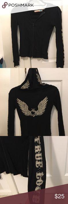 Vintage Havana sweatshirt Black love and studded sweatshirt Vintage Havana Tops Sweatshirts & Hoodies