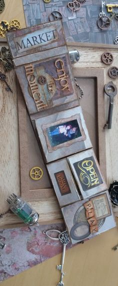 steampunk mini album 7gypsies architextures how to tutorial