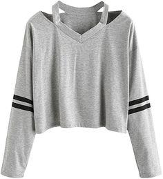 Susenstone Fashion Womens Long Full Sleeve Sweatshirt Print V Neck Causal Broadcloth Tops Blouse T-shirt (S): Amazon.ca: Clothing & Accessories