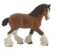 Each Papo figure is hand painted and sculpted by experts Breathtaking, realistic colors and designs Extremely realistic and highly detailed A variety of animals Schleich Horses Stable, Shire Horse, Horse Stables, Horses And Dogs, Animals And Pets, Bryer Horses, Barbie Playsets, Walking Horse, Cat Clock