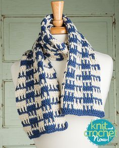 Free Checkerboard Squares Scarf Crochet Pattern Download -- Designed by KCN Design Team. Featured in Season 5, episode 507, of Knit and Crochet Now! TV. Download here: https://www.anniescatalog.com/knitandcrochetnow/patterns/detail.html?pattern_id=28