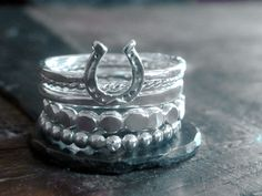 Horseshoe Stacking Ring Set :)  www.goldenrabbitsaddlery.com