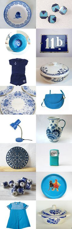 French Blues by Victor on Etsy--Pinned with TreasuryPin.com #Etsy #EtsyFR #FrenchVintage #French #vintage #VintageFinds #vintagefr #France #blue #retro