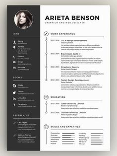 Here's a resume employers actually want to read. Try this clean minimal resume template for landing your dream job! Here's a resume employers actually want to read. Try this clean minimal resume template for landing your dream job! Resume Design Template, Resume Templates, Cv Unique, Conception Cv, Architect Resume, Basic Resume, Simple Resume, Visual Resume, It Cv