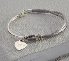 silk silver bangle by hurley burley | notonthehighstreet.com