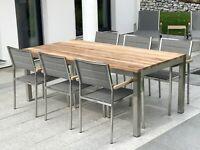 Teak Gartentisch Edelstahl Teakholz Massivholz Premium Sale Bayern Landsberg Lech Vorschau In 2020 Teak Holz Aussenmobel Gartenmobel Sets
