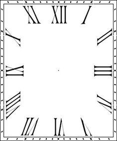 Thin Roman Numeral 12 46 Clockface Wall Stencilchoice Of Sizes