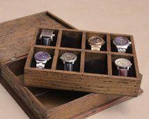 Caja de reloj personalizado rústicos hombres de New para 8 relojes