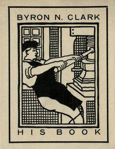 .ex libris Byron N. Clark