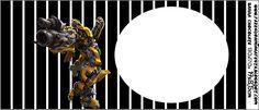 Transformers: etiquetas para imprimir gratis.