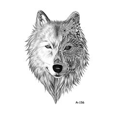 A-156 Wolf Women Body Art Temporary Tattoo Sticker