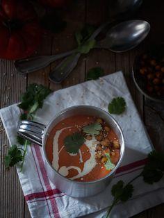 Crema de tomates y pimientos rojos asados