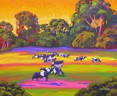 Gene Brown Cow Heaven - Southwest Gallery: Not Just Southwest Art. Landscape Art, Landscape Paintings, Landscapes, California College Of Arts, Magic Design, Acrylic Artwork, Brown Art, Southwest Art, List Of Artists