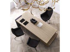 JERA 15 Modern Eleganter Chef Schreibtisch, Büro Schubladen Container  Preiswert, Farbe Ulme,