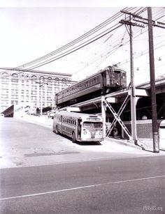 Bus & train 1950s