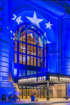 Union Station in blue.