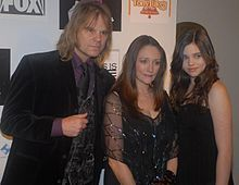 Parents David Eisley and Olivia Hussey with their daughter India Eisley at the Cinema City Film Festival.