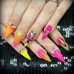 #glitter #nail #nails #nailswag #naildesign #bling #nailartist #sparkels #bignails #nailaddict #usa #australia #miamibeach #miami #newyork #florida #world #picoftheday #instapic #instagood #instalike #instagram #scra2ch #nailporn #nailprodigy #love #summer #sun #neon #stilettos