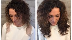 Custom curly hair extensions applied with #hairdreams #hairextensions #raleighhair
