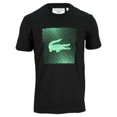 Made from super soft 100% cotton, the Lacoste Men's Andy Roddick Jersey Croc Tennis Tee Black and Green  has a casual style and is really comfortable to wear. This tee has a crew neckline, classic fit, and large croc graphic on the front.Fabric: 100% CottonColor: Black/GreenFor information regarding sizes, please refer to our sizing chart.