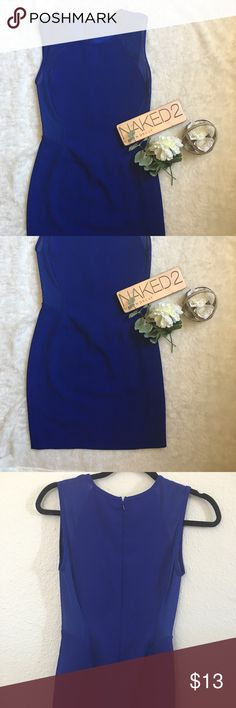 Blue Body Con Party Dress with Mesh Blue body con mini party dress with flattering mesh cutouts Forever 21 Dresses Mini