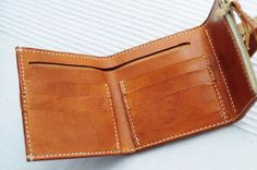 Hand Stitched Light Brown Leather Wallet от ArtemisLeatherware