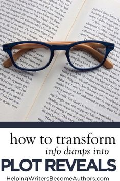 This Is How to Transform Info Dumps Into Exciting Plot Reveals - Helping Writers Become Authors Fiction Writing, Writing Advice, Writing Resources, Writing A Book, Writing Prompts, Writing Courses, Writing Lessons, Writing Workshop, Writing Ideas