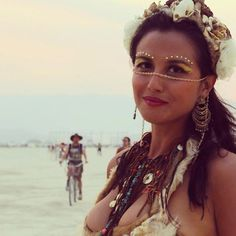 Festival make up flower crown burning man playa outfit