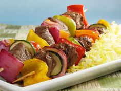 Take your cooking to the next level. Browse dozens of bbq and grilled beef recipes. Find recipes for nachos, grilled steak, fajitas, beef ribs, burgers and much more. Beef Kabob Recipes, Grilling Recipes, Sirloin Recipes, Fondue Recipes, Meatball Recipes, Sausage Recipes, Cookbook Recipes, Cooking Recipes, Healthy Recipes