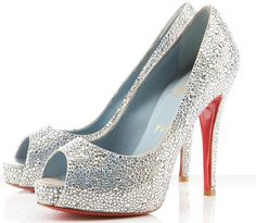 Silver Louboutin pumps. So sparkly! i want :)
