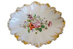 Floral Hand-Painted Dish on OneKingsLane.com