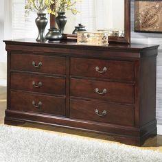 Alisdair 6 Drawer Dresser with Mirror