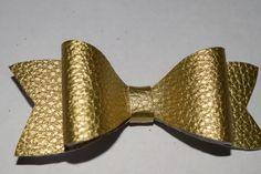 Hair Bow Girl's Glitter Bow Handmade Hair Bow Gold Hair Bow by RachelsHairBowtique on Etsy