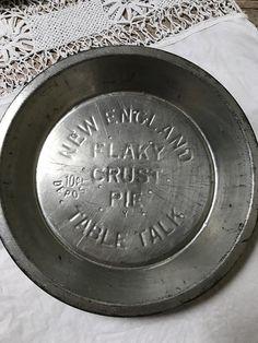 Vintage Pie Plate New England Flaky Crust Pie Table Talk Advertising Tin Pie Pan Plate Kitchenware Aluminum Pie Pan Baking Pan Bakery by AntiquesPlus on ... & Vintage New England Flaky Crust 10 Cent Table Talk Pie Tin- Pie Pan ...