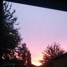 Sun set. Purple.