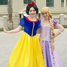 Happy Birthday Taylor! Snow White and Rapunzel had the BEST time celebrating with you today! #girlygirlparteas #princessparty #snowwhite #rapunzel