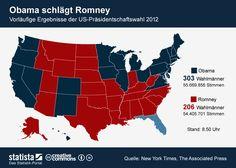 Vorläufige Ergebnisse der Präsidentschaftswahl USA 2012 , Barack Obama und Mitt Romney