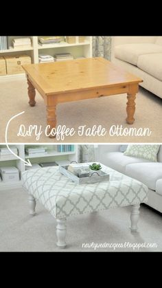Lovely Convert Coffee Table to Ottoman